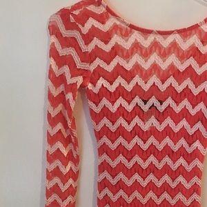 Coral bodycon dress